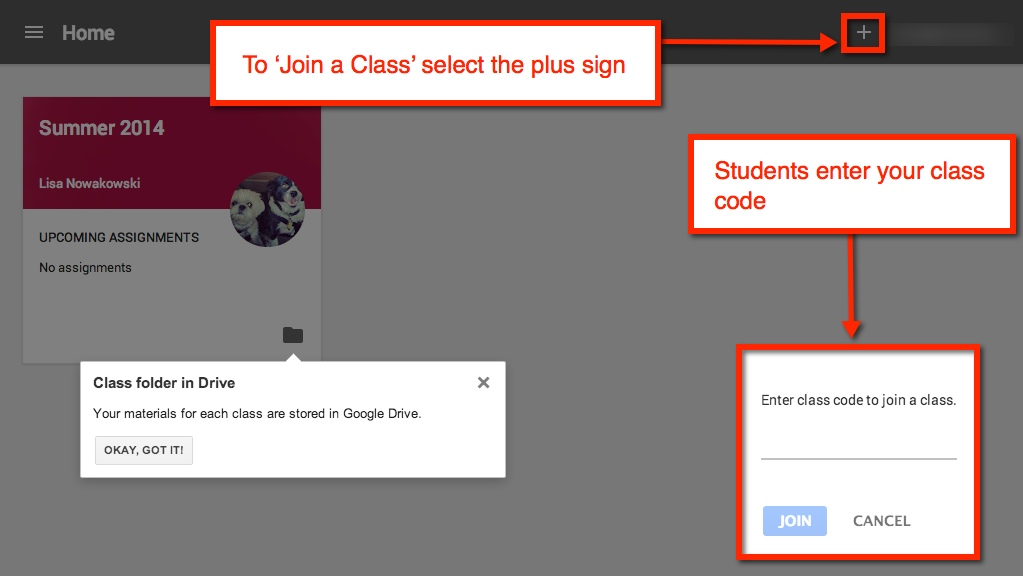 Image result for how to join a google classroom