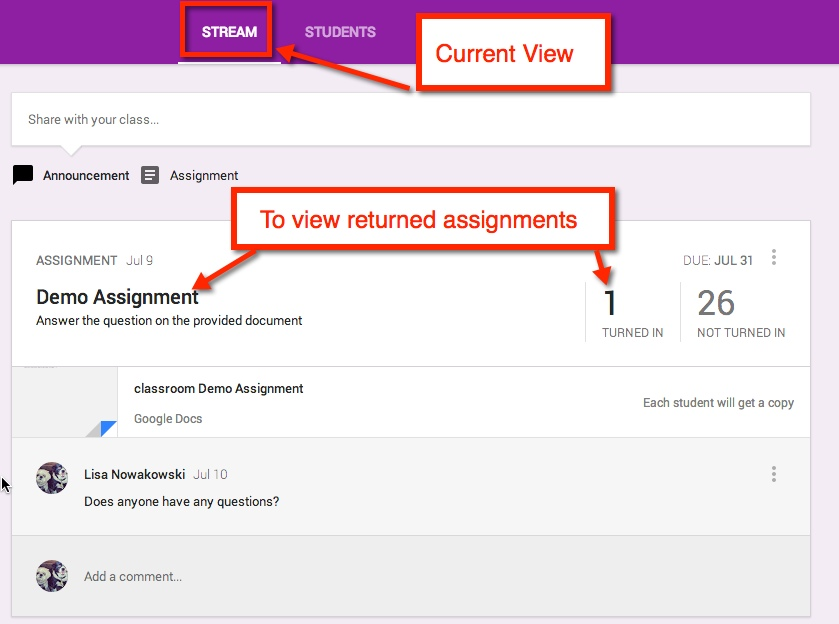 Getting Started with Google Classroom   Brew 0   To create an assignment