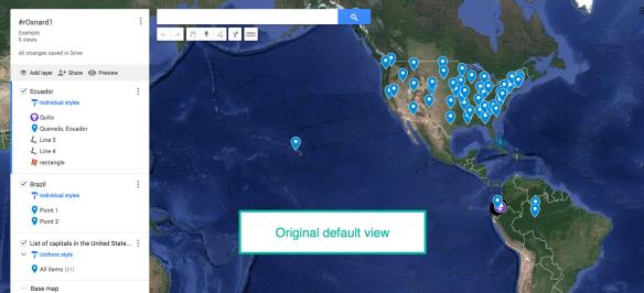 My Maps: Set Default View | Nowa Techie