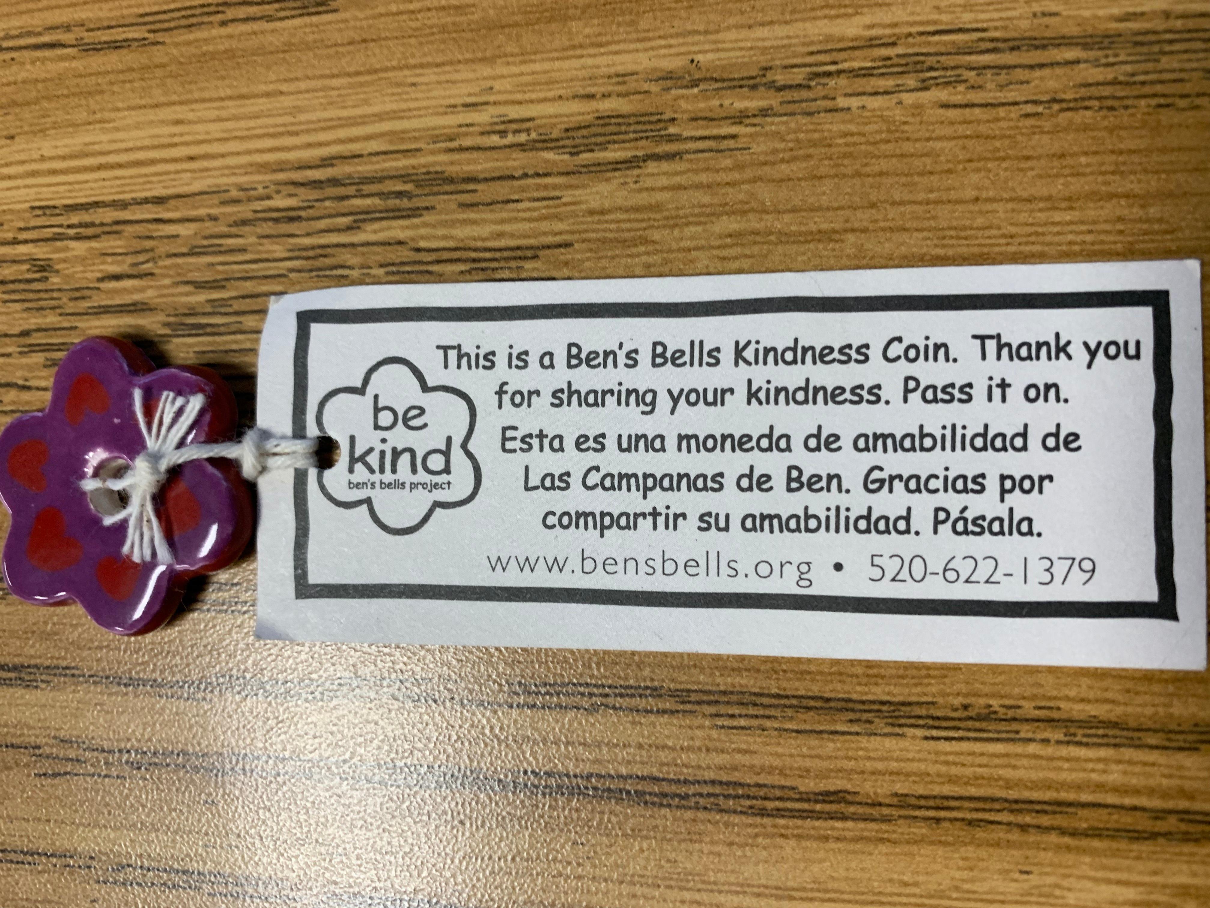 Ben's Bells Kindness Coin